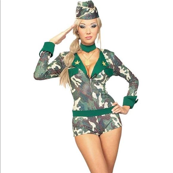 61233659e84 Secret Wishes Womens 'Army Girl' Halloween Costume NWT